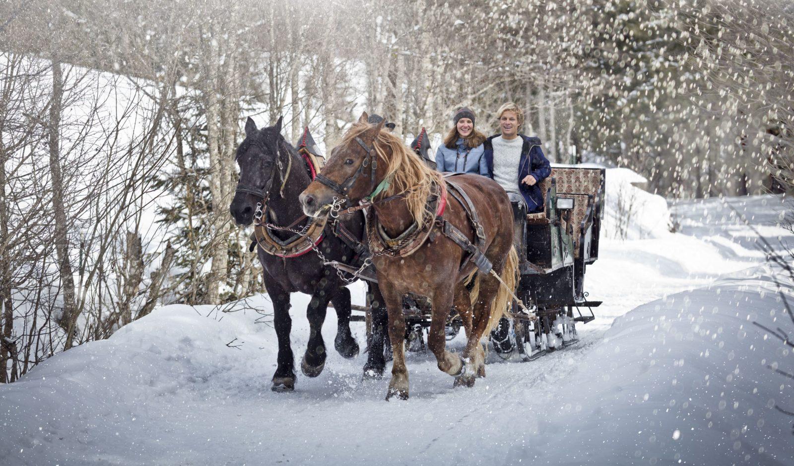 Pferdeschlitten in Saalbach Hinterglemm